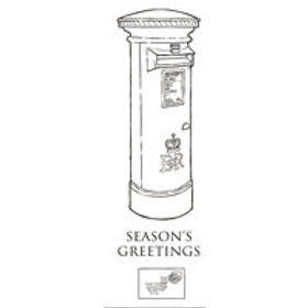 Christmas Postbox   - Clear Stamp