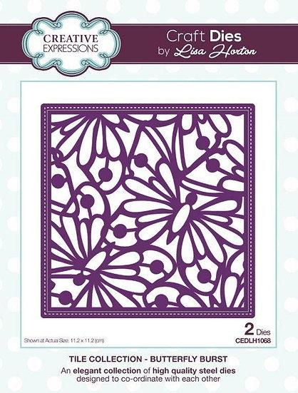 Butterfly Burst Tile - Lisa Horton - Craft Die