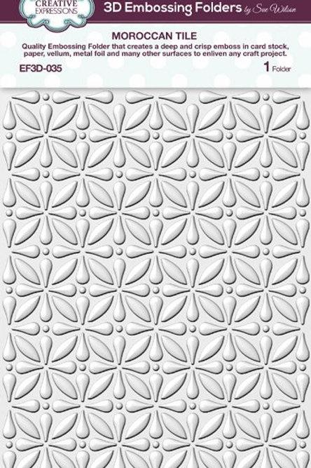 Moroccan Tile - 3D Embossing Folder
