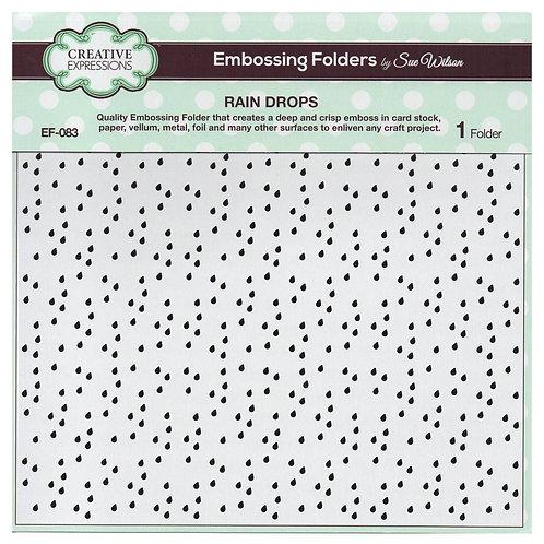 """Rain Drops - 8""""x8"""" Embossing Folder"""