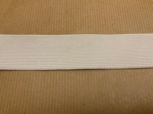 White 75mm elastic - per mtr