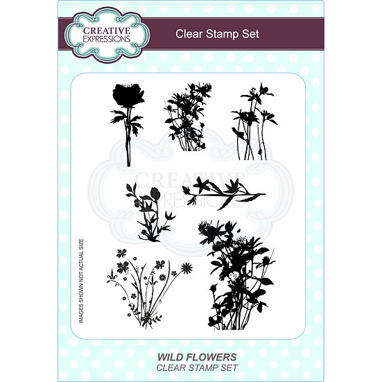 Wild Flowers - A5 Clear Stamp Set - Creative Expressions