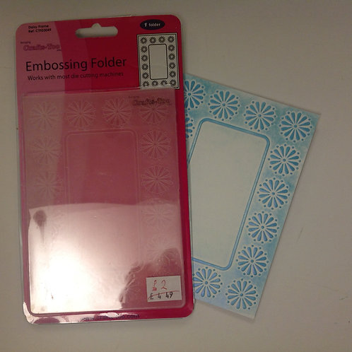SALE - Embossing Folder - Daisy Frame
