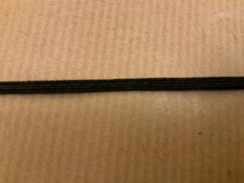 Black 3mm elastic - per mtr