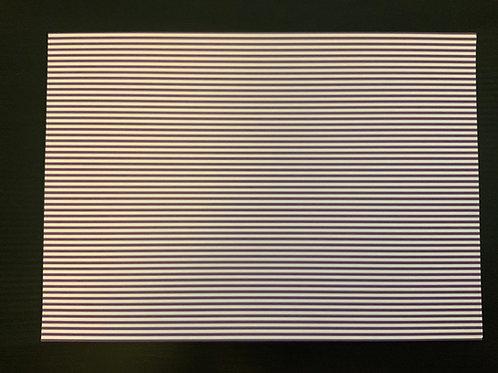 A4 Card- SALE - Travel - Purple Stripe