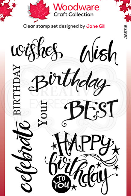 A Birthday Moment Clear Stamp