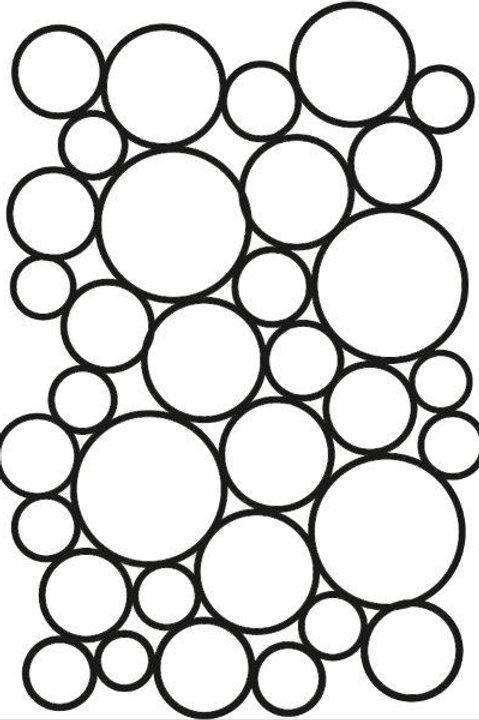 Endless bubbles - A5 stencil