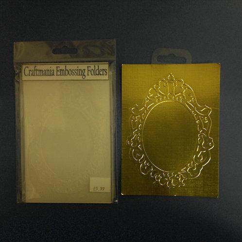 Embossing folder - A6 - Oval Frame