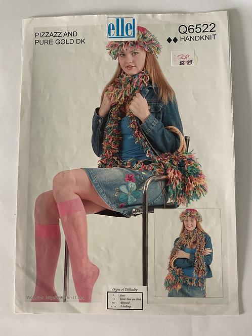 DK Ladies Hat, Scarf & Bag Pattern