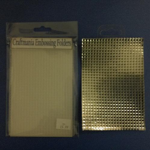 Embossing folder - A6 - Grid/Mesh