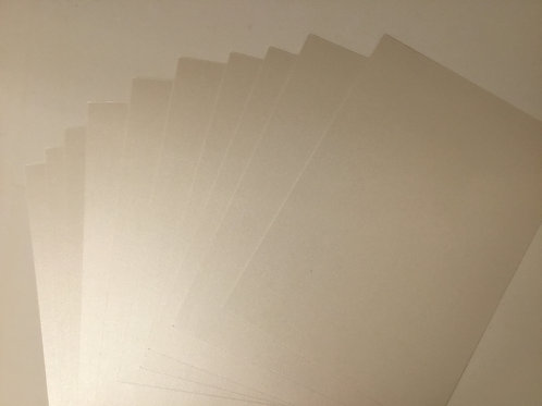 Pearl card - 10 pack - 300gsm - Pearl Silver white