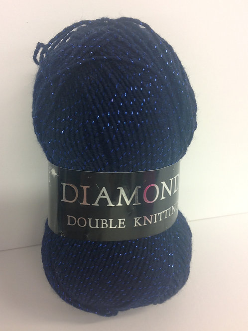 Diamonds Double Knit - Navy