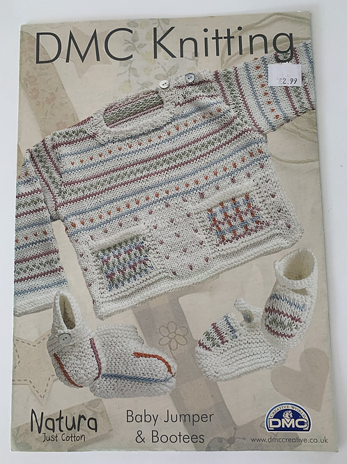 DMC Cotton Baby Jumper & Bootees Pattern