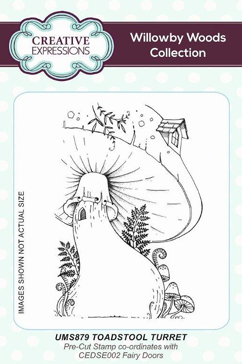 Rubber Mounted Stamp - Mushroom