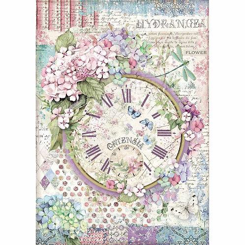 A4 - Rice Paper -  Paper Clock