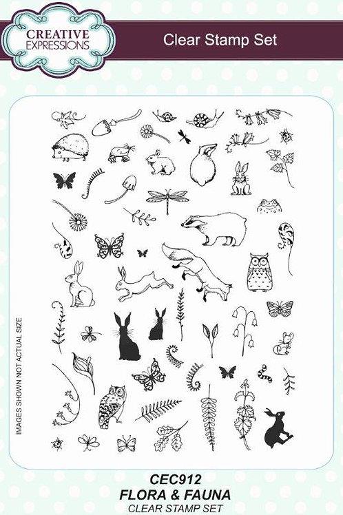Clear Stamp -Flora & Fauna