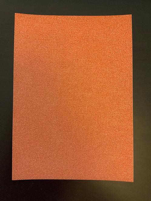 A4 Glitter card - Rust