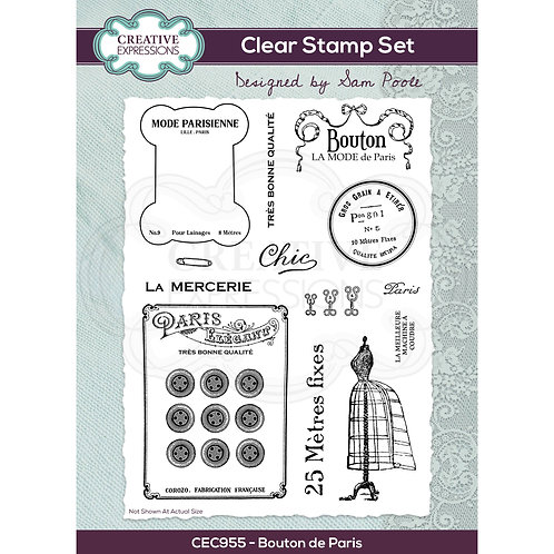 Bouton de Paris - Clear stamp*