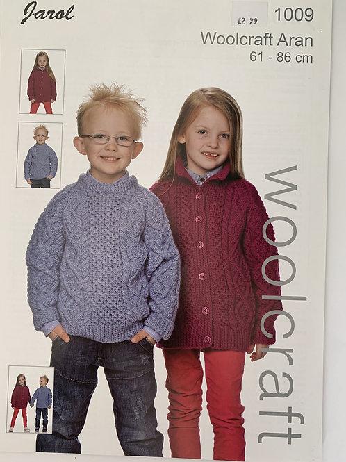 Aran Children's Sweater & Cardigan Pattern