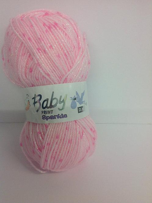 Baby Print Sparkles - Pink