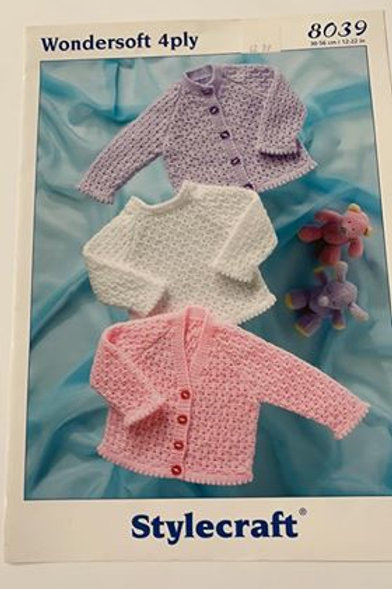 Baby 4ply Jumper & Cardigan Pattern