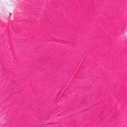 "Fuchsia ~ 8g ~Mixed 3-8"" Feathers"