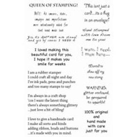 Crafting verses - stamp