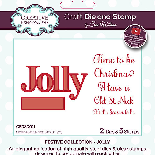 Jolly - Sentiment & Clear Stamp Set
