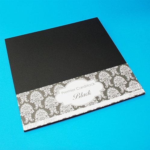 "12""x12 plain Card - Black - 20 Sheets"