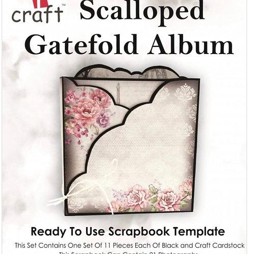 Scalloped gatefold album