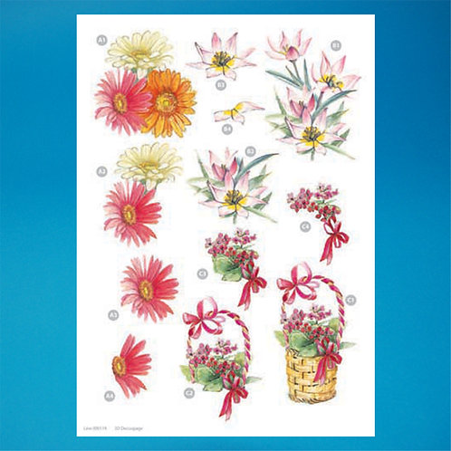 Flower Diecut - A4 Sheet