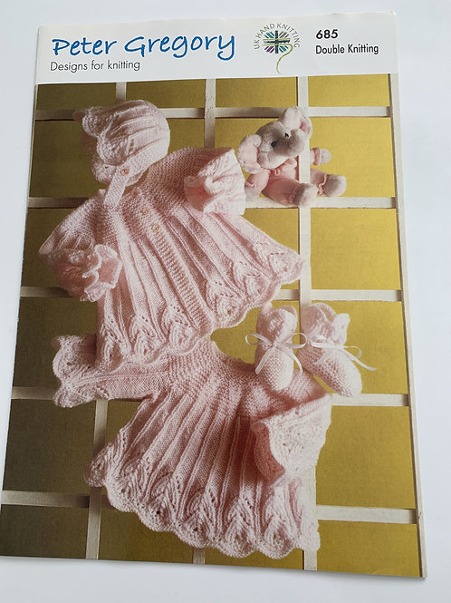 Baby DK Baby Dress, Coat, Bootees & Bonnet Pattern