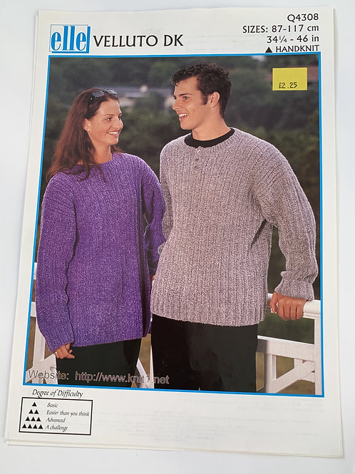 DK Mens & Ladies Sweater Pattern