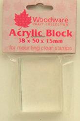 Acrylic Stamping Block - 38x50x15mm