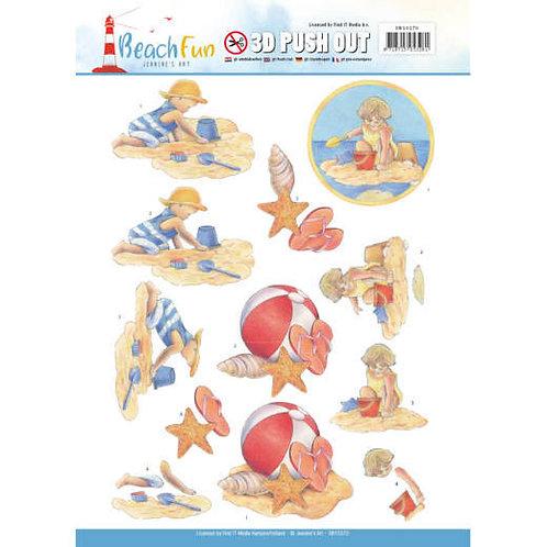 Beach - Die Cut Decoupage Sheet - A4