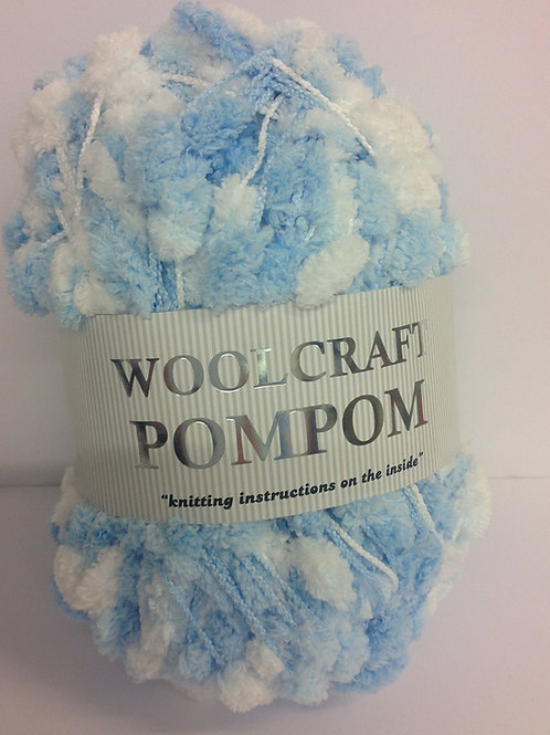 Pom Pom - Blue & White