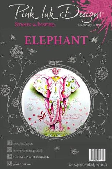 Pink ink - Elephant