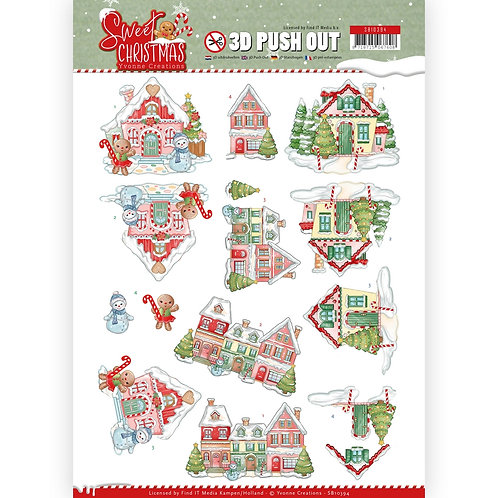 Christmas - Die Cut Decoupage Sheet