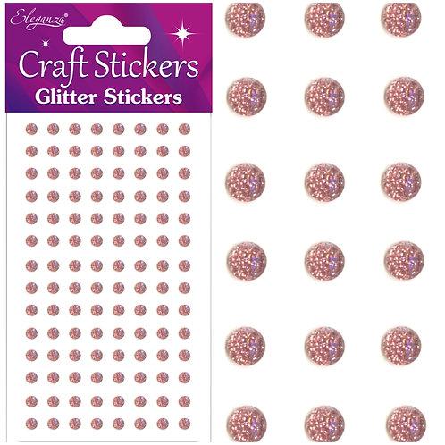 4mm Glitter gems - Rose gold