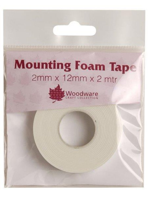 2mm Thick - Foam Tape on a roll - 12mm wide x2m length