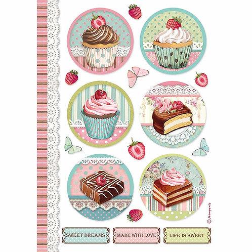 A4 - Rice Paper - Round Mini Cakes