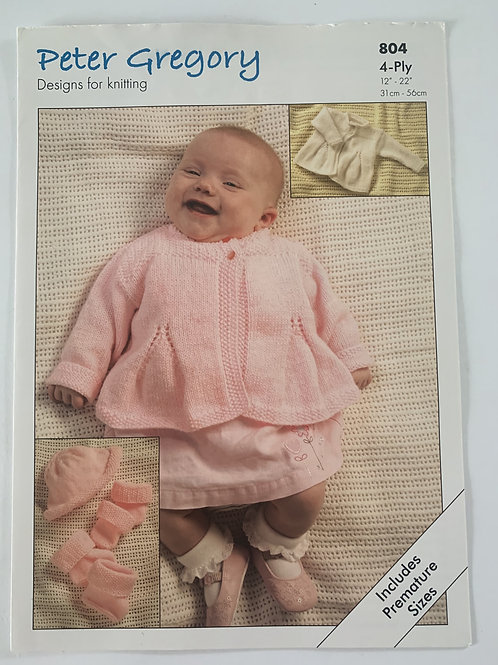 4ply Baby Jacket, Hat, Bootees & Mittens Pattern