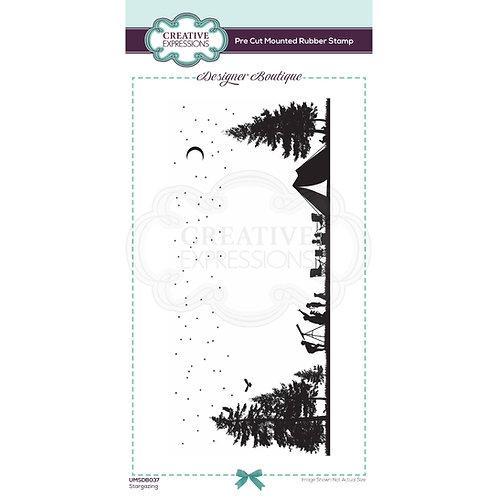 Stargazing - Pre Mounted Rubber Stamp - Designer Boutique