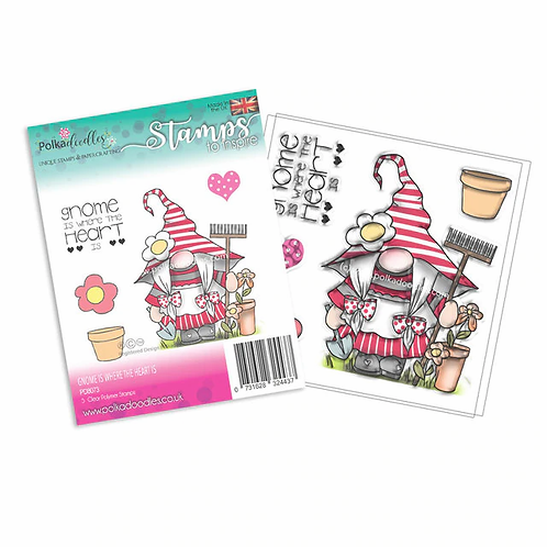 Gnome is where the heart is - Clear stamp
