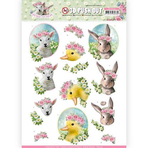 Spring Is Here - Easter  - Die Cut Decoupage Sheet