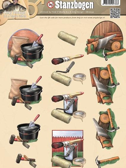Decorating - Die Cut Decoupage Sheet - A4