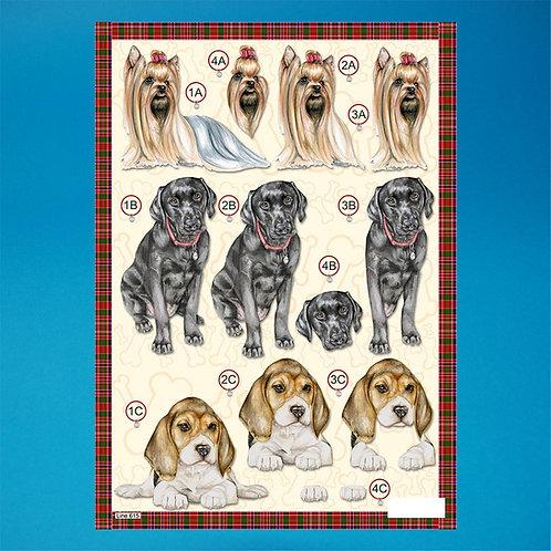 Dog Diecut - A4 Sheet