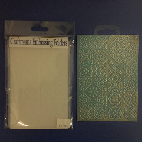 Embossing folder - A6 -Mosaic Background