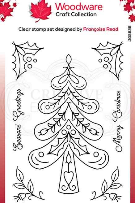 Woodware - Clear Stamp - Nordic Tree