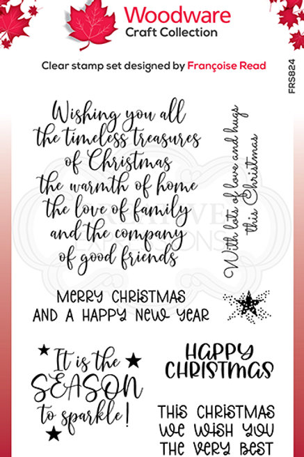 Woodware - Clear Stamp - Special Christmas Words